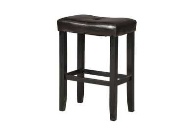 Micha Espresso PU & Black Counter Height Stool (Set of 2)