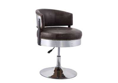 Brancaster Chocolate/Chrome Accent Chair