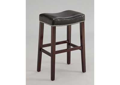 Lewis Black PU & Espresso Counter Height Stool (Set of 2)