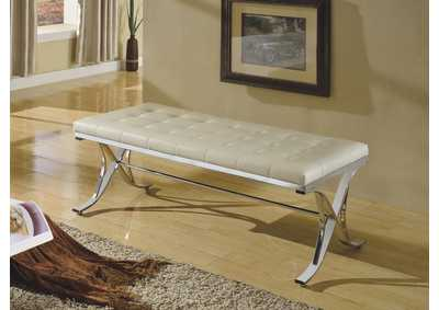 Image for Royce Beige/Chrome Bench