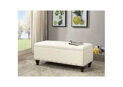 Image for Estee White Bench w/Storage