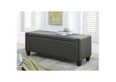 Image for Kelly Black Bench w/Storage