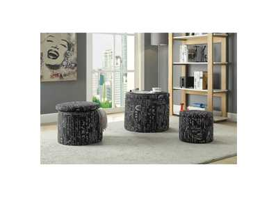 Image for Rapa Pattern Ottoman (Set of 3)