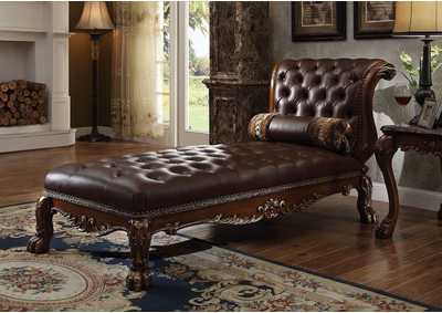 Image for Dresden Cherry Oak Chaise w/1 Pillow