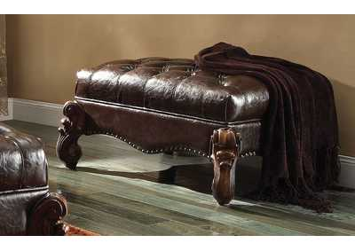 Versailles Two-Tone Brown/Cherry Oak Ottoman