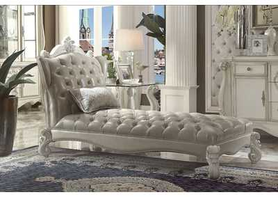 Image for Versailles Gray/White Chaise & Pillow