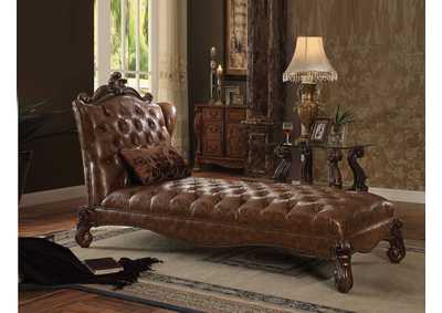 Image for Versailles Cherry Oak Chaise w/Pillow