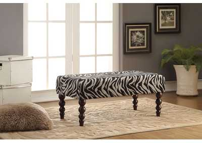 Alysha Zebra Fabric Bench