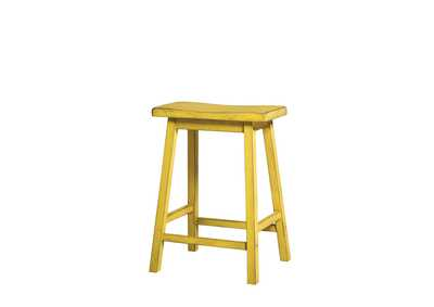 Gaucho Antique Yellow Counter Height Stool (Set of 2)