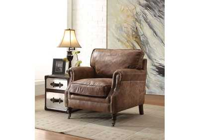 Dundee Retro Brown Accent Chair