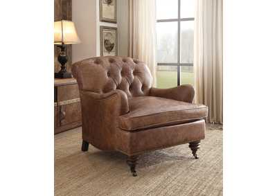 Durham Retro Brown Accent Chair