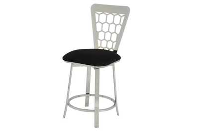 Felice Black/Chrome Counter Chair (Set of 2)