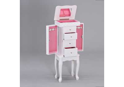 Didi White Jewelry Armoire