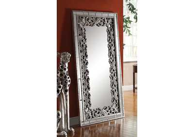 Vern Silver/Black Accent Mirror