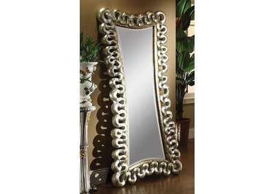 Harac Distress Silver Accent Mirror