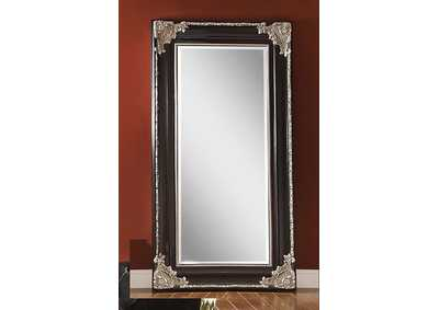 Karol Silver/Black Accent Mirror