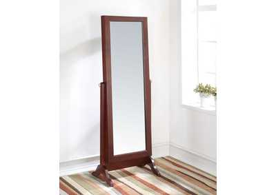 Remiro Cherry Floor Mirror w/Jewelry Armoire