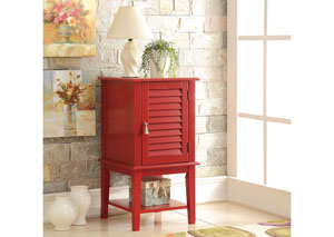 Hilda Red Side Table