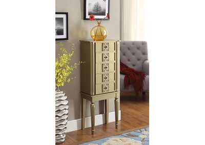 Image for Tammy Gold Jewelry Armoire