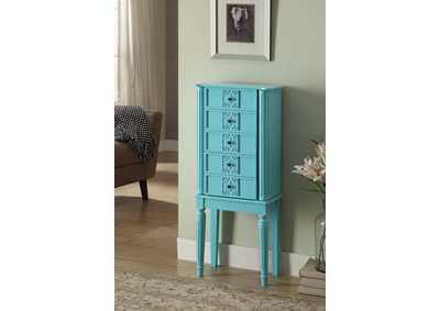 Image for Tammy Blue Jewelry Armoire