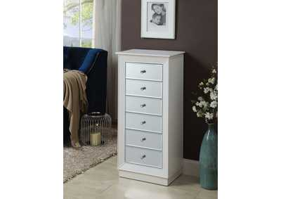 Talor White Jewelry Armoire