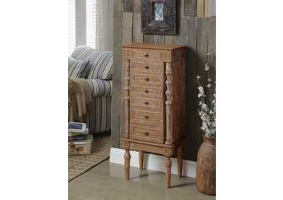 Taline Weathered Oak Jewelry Armoire