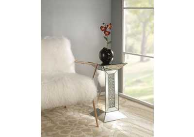 Nysa Mirrored Pedestal Side Table