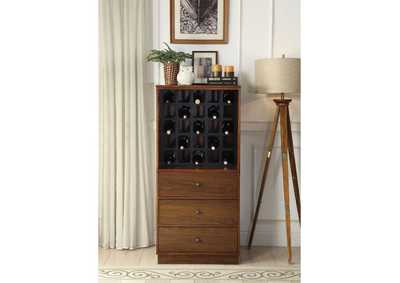 Wiesta Brown Wine Cabinet