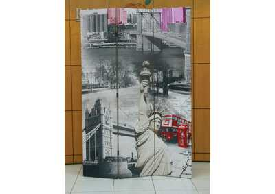 Trudy Scenery 3 Panel Wooden Screen