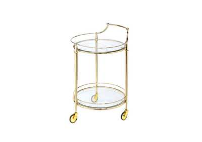 Macha Gold Serving Cart