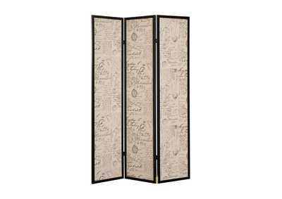Zita Black Room Divider