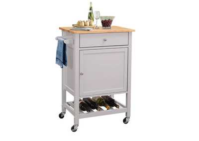 Hoogzen Wooden Top Kitchen Cart