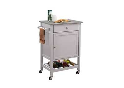 Hoogzen Stainless Steel Top Kitchen Cart