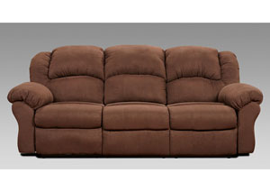 Aruba Chocolate Reclining Sofa