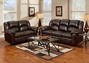 Brandon Brown Reclining Loveseat