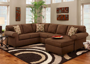 Image for Patriot Chocolate Sectional Sofa