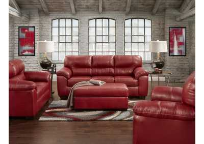 Image for Austin Red Sleeper Sofa