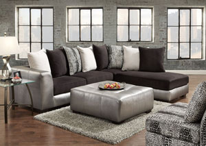 Image for Shimmer Pewter Party Ottoman