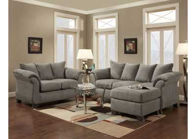 Image for Sensations Grey Sofa W/Chaise