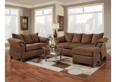 Image for Aruba Chocolate Sofa W/Chaise