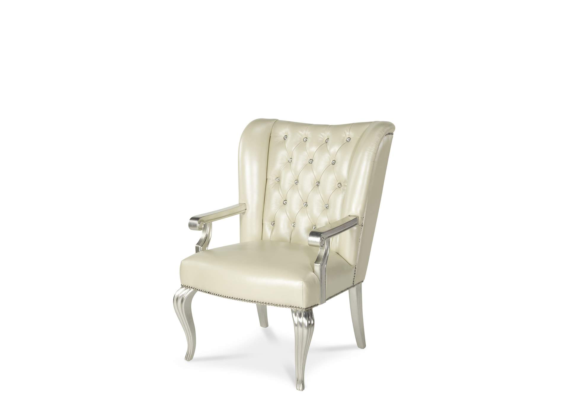 Hollywood Swank Pearl Upholstered Desk Chair,AICO