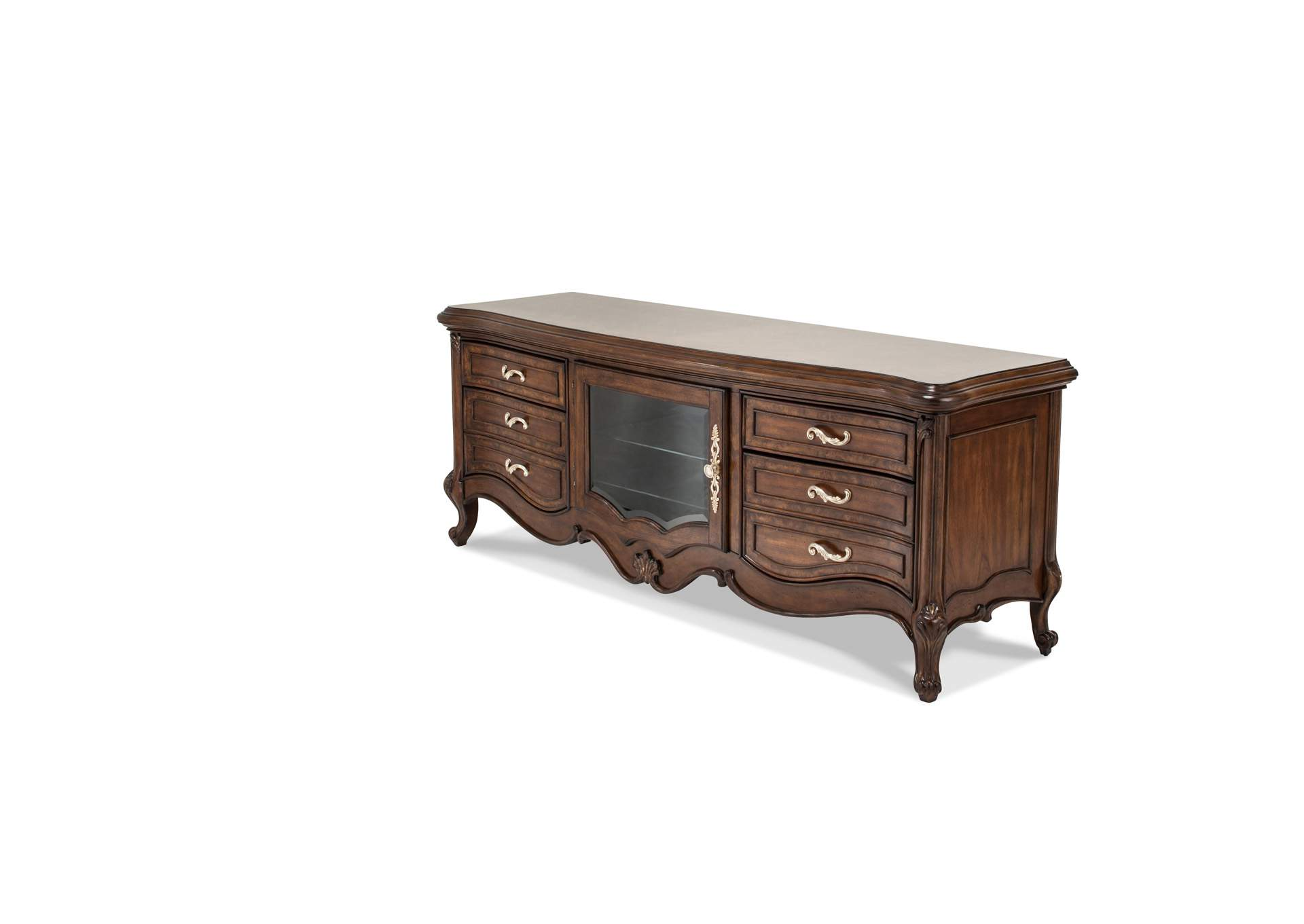 Platine de Royale Light Espresso Entertainment Console,AICO