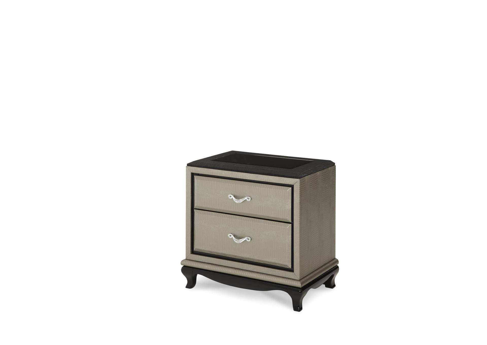 After Eight Titanium Nightstand,AICO