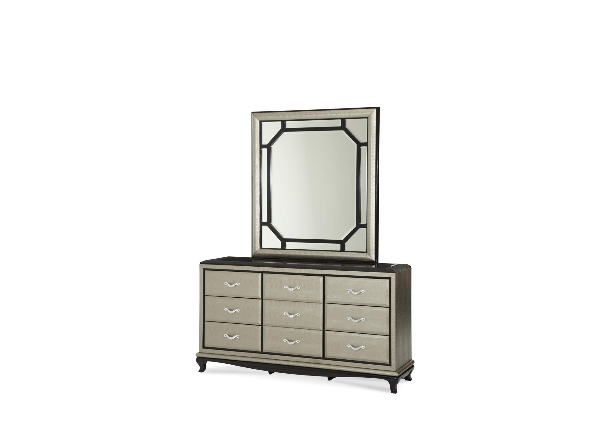 After Eight Pearl Rectangular Dresser Mirror,AICO