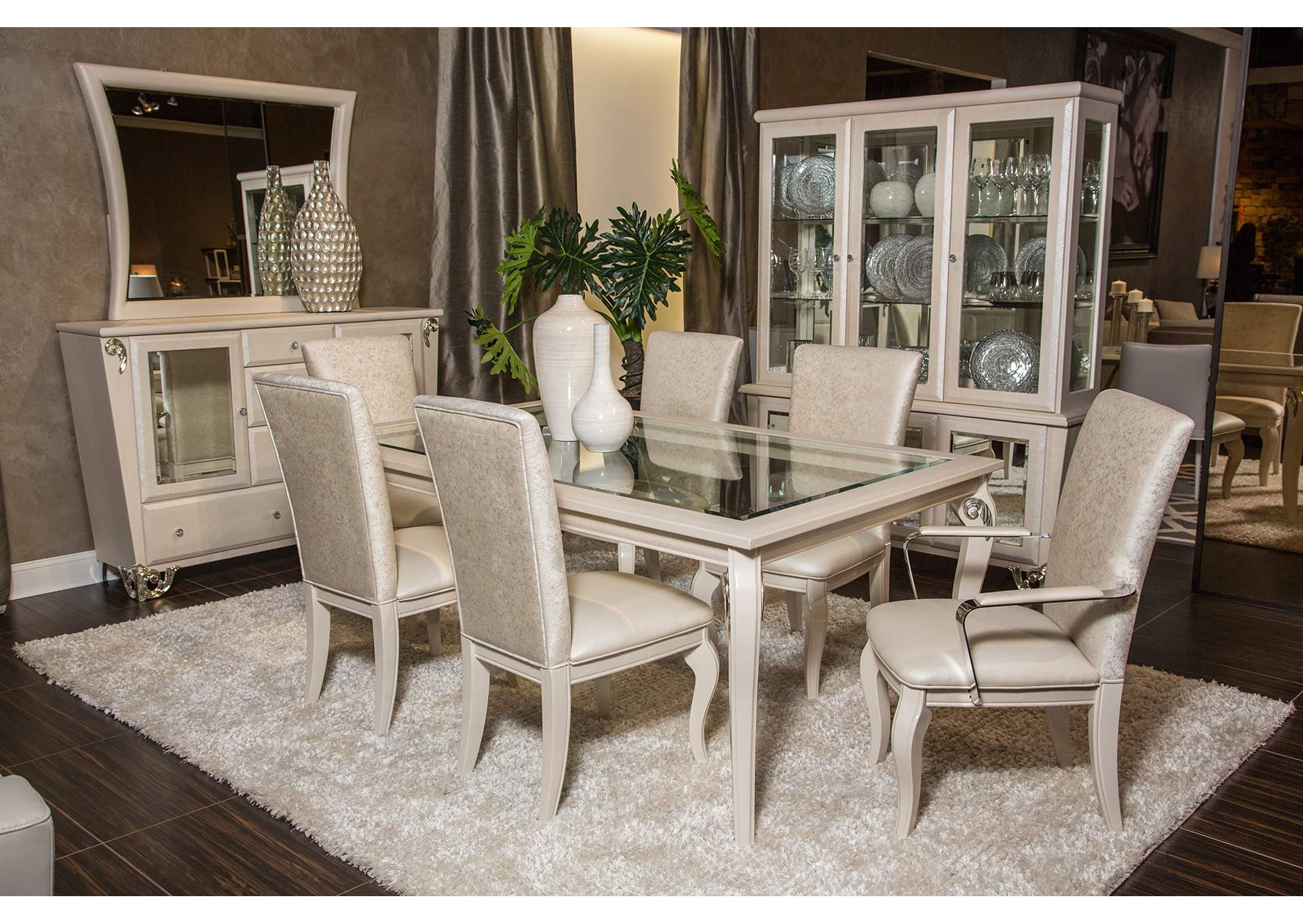 Premier Furniture Gallery Sunset Terrace Creamy Pearl 4 Leg Dining Table
