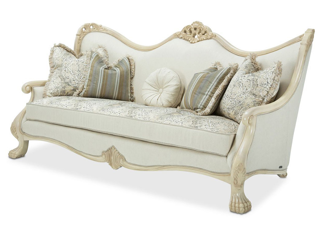 Chateau De Lago Blanc Wood Trim Sofa,AICO