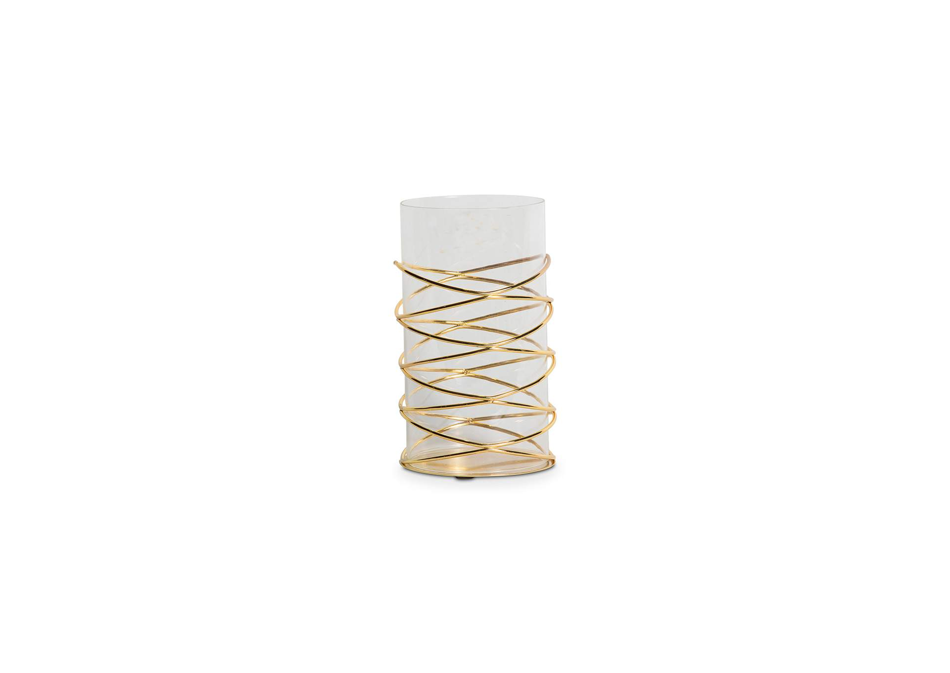 Montreal Gold Crossover Candle Holder,AICO