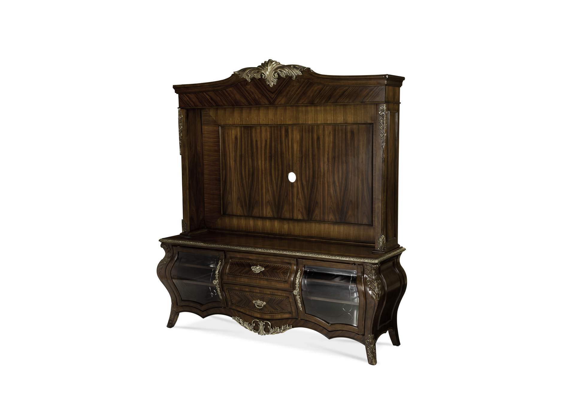 Imperial Court Radiant Chestnut Entertainment Unit,AICO