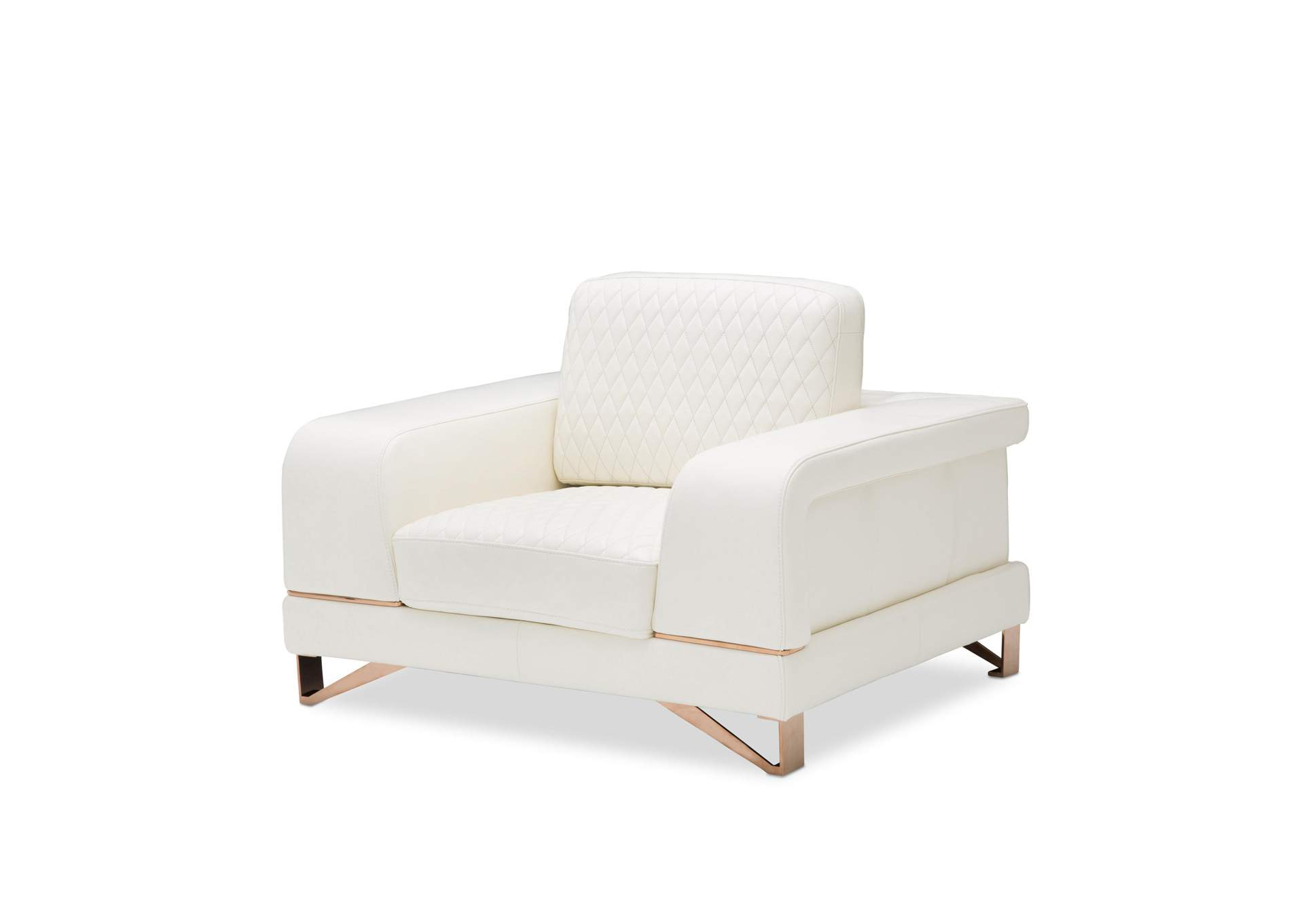 Stupendous V Watts Furniture Bianca White Rose Gold Leather Chair And Caraccident5 Cool Chair Designs And Ideas Caraccident5Info