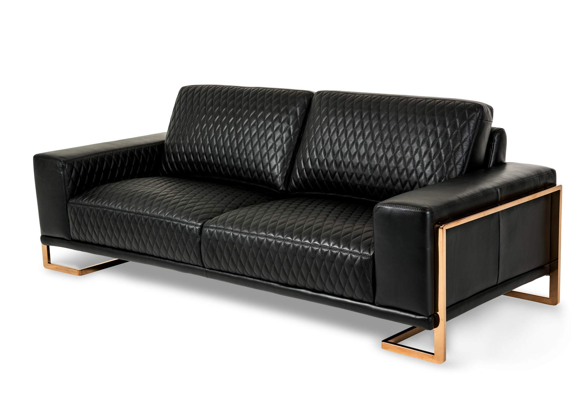 Premier Furniture Gallery Gianna Black Leather Sofa